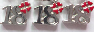 "Floating Charm: Birthday Collection - Age Charm ""18"" Charm"