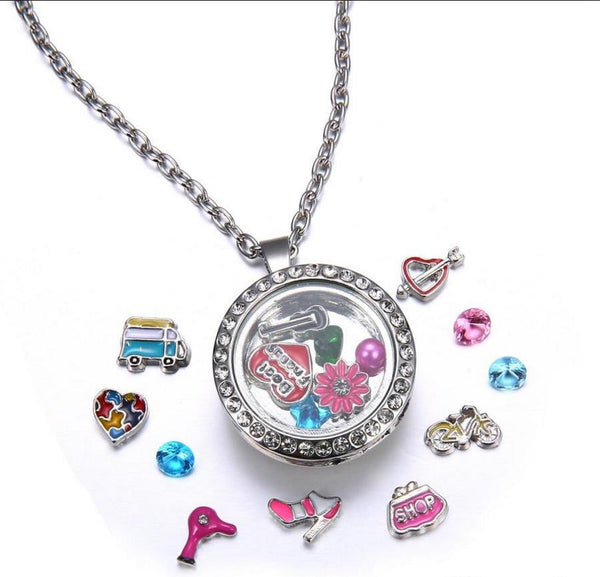 Floating Charm: Girly Girl Collection - Shop Pink Purse Charm