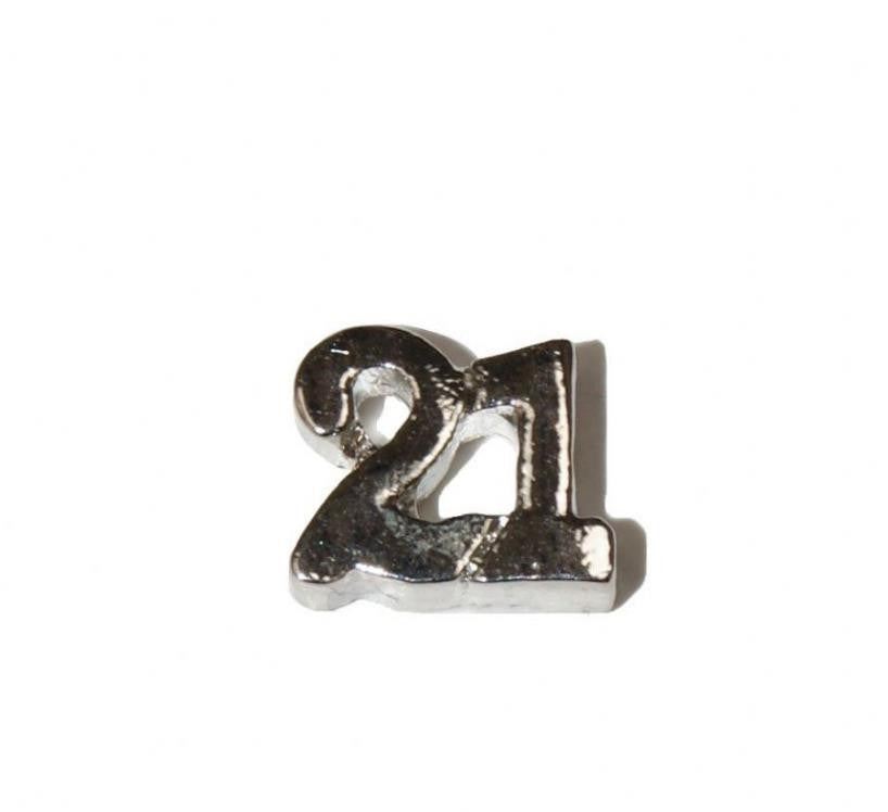 "Floating Charm: Birthday Collection - Age Charm ""21"""