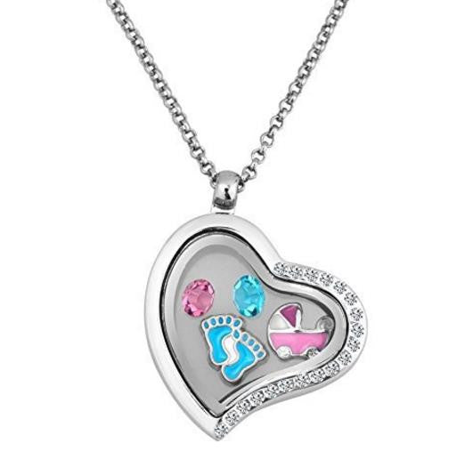 Floating Charm: Baby Collection - Baby Carriage Charm