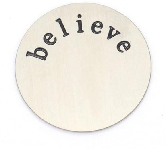 Floating Charm: Inspirational Collection - PLATE Believe