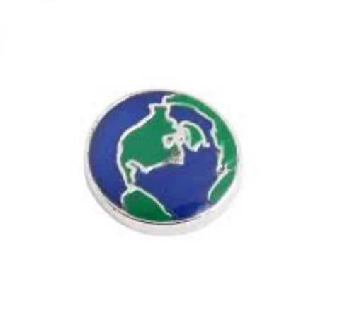 Floating Charm: Travel Collection - World Globe Travel Charm
