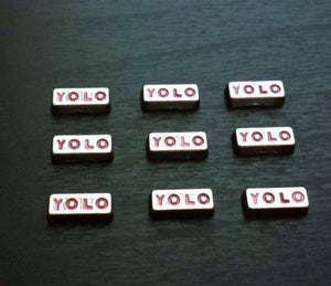 "Floating Charm: Inspirational Collection - ""YOLO"" You Only Live Once Charm"