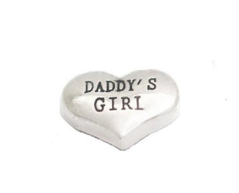 "Floating Charm: Family Collection - ""Daddy's Girl"" Heart Family Charm"