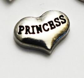 "Floating Charm: Royal Collection - ""Princess"" Heart Charm"