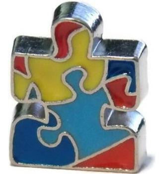 Floating Charm: Austism Awareness Puzzle PIece Charm