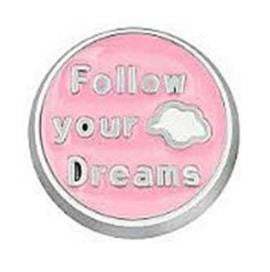 "Floating Charm: Inspirational Collection - ""Follow Your Dreams"" Charm"