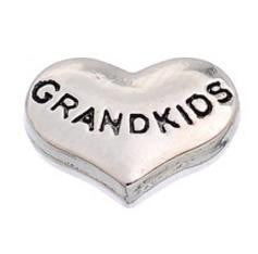 "Floating Charm: Family Collection - ""Grandkids"" Heart Charm"
