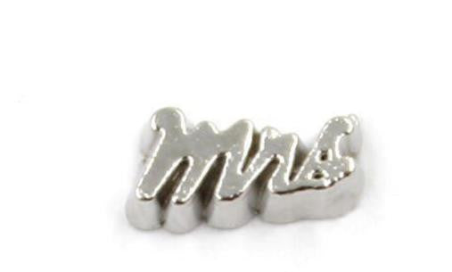 "Floating Charm: Bridal Collection - ""Mrs"" Wedding Charm"
