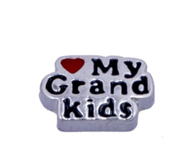 "Floating Charm: Family Collection - ""<3 My Grandkids"" Charm"