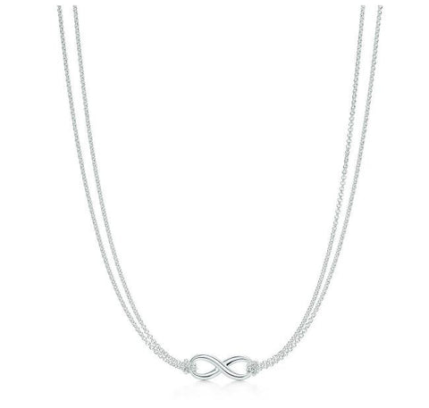 Necklace: Infinity Symbol Connected Style Pendant Necklace