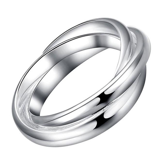 Ring: Twisted Hoop of Loops - 3 piece ring - Connected style