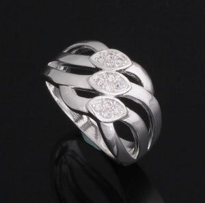 Ring: Classy Statement Silver Ring (Size 6, 7, 8, 9)