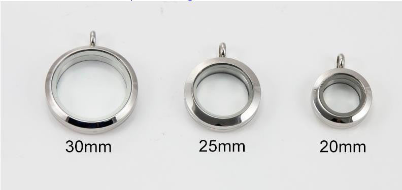 Floating Charm Jewellery: Pendant - Round - WATERPROOF