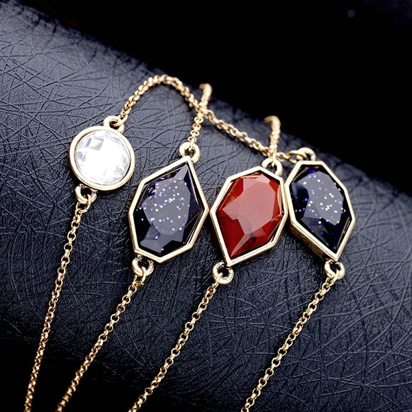 "Long Necklace: Stunning Elegant ""Mystery at Midnight"" Necklace"