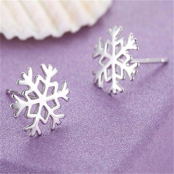 "Earrings: Snowflake ""Jack Frost"" Stud Earrings"