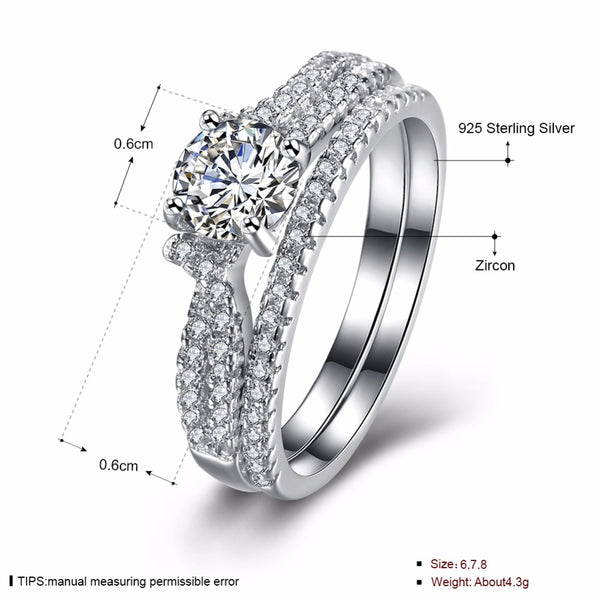 "925 Sterling Silver: Ring Set - ""Gracious Gift"" Ring Set"