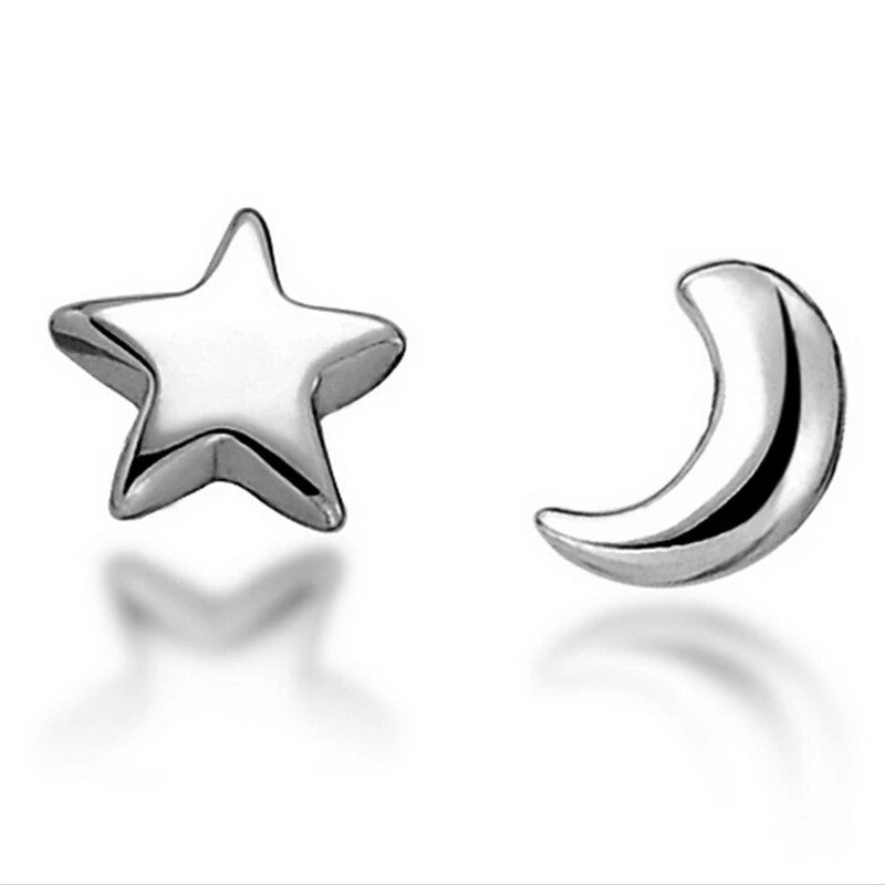 Earrings: Celestial Moon and Star Stud Earrings