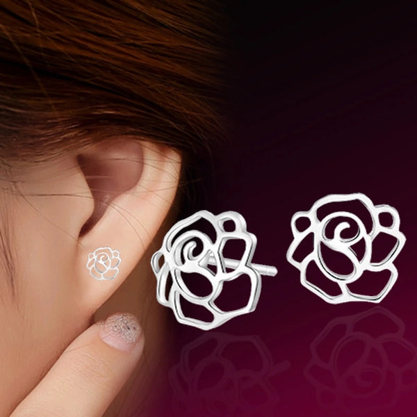 Earrings: Floral Cut-Out Stud Earrings