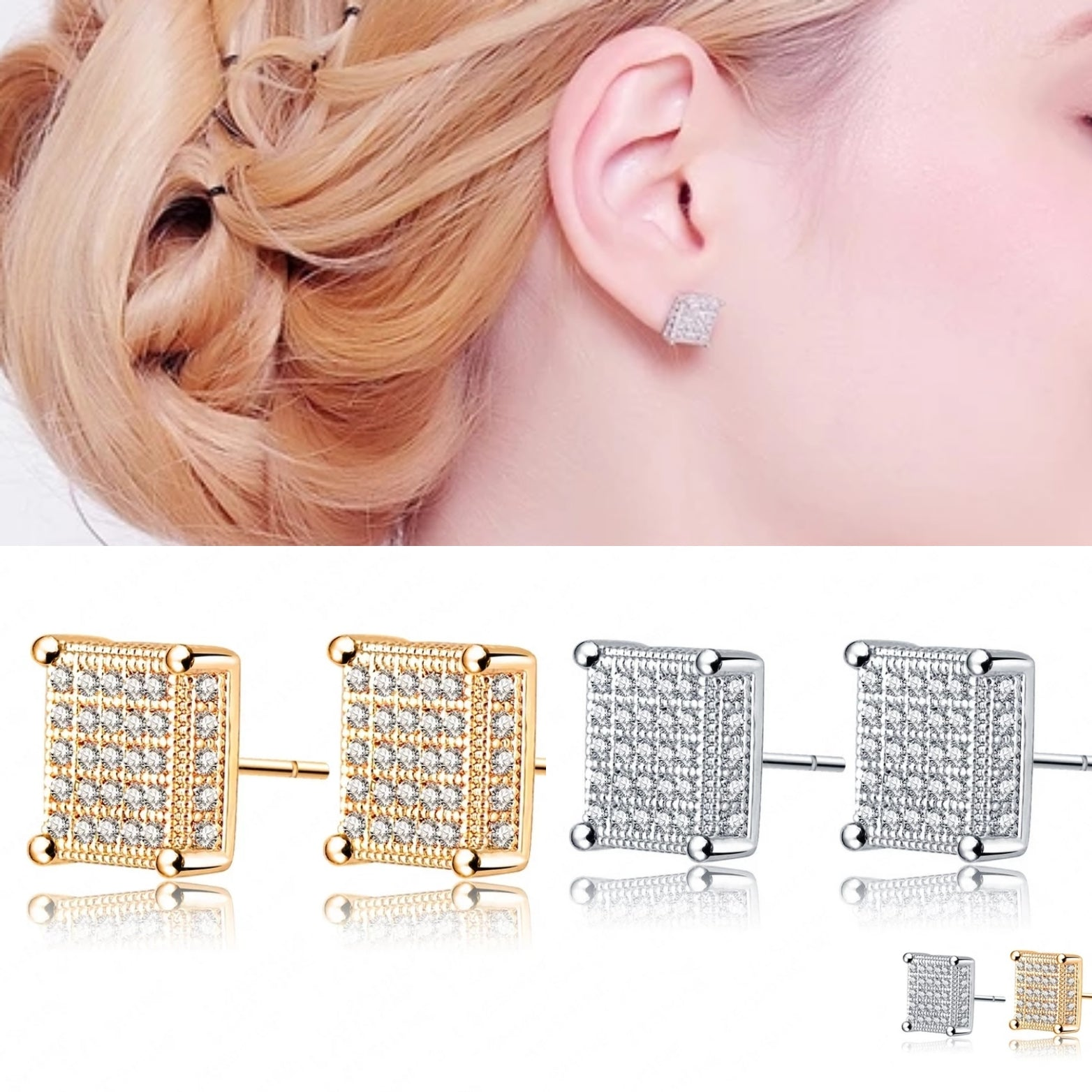 Earrings: Easy Elegance Square Stud Earrings