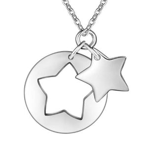 Necklace: 2-piece Dangle Star Pendant Necklace