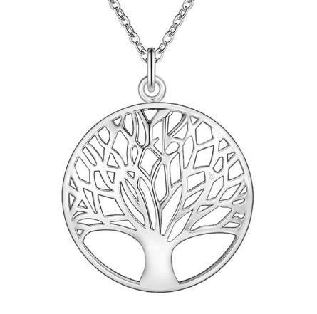 "Necklace: ""Tree of Life"" Silver Pendant Necklace"