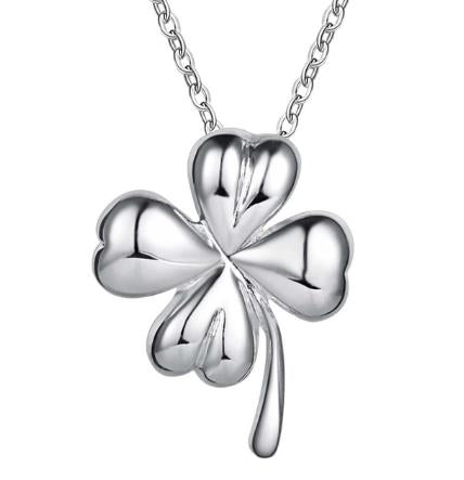 Necklace: 4-Leaf Clover Pendant Necklace