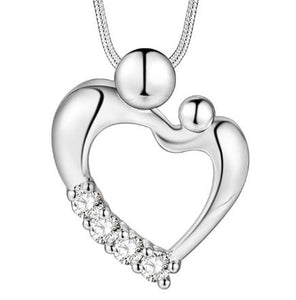 Necklace: Mother with Child Heart Shaped Necklace