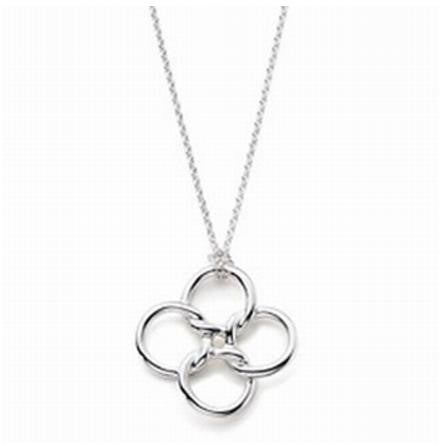 "Necklace: ""Sierra"" Geometric Circle and Square Pendant Necklace"