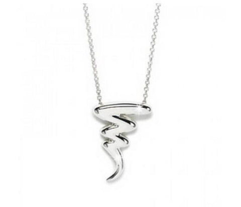 "Necklace: Zig-Zag ""Lightening Struck"" Pendant Necklace"