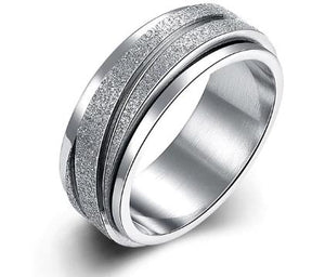 Ring: Titanium Steel Ring - Size 9