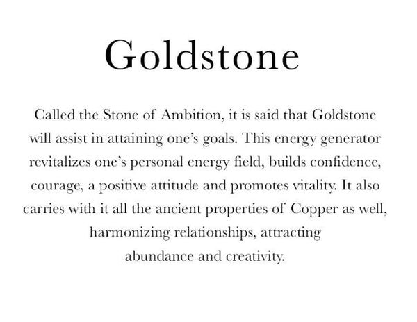 Necklace: Goldstone Pendant Necklace - the 'Ambition' stone