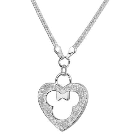 Necklace: Minnie Mouse Heart Pendant Necklace
