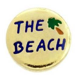 "Floating Charm: Travel Collection - ""The Beach"" Charm (Multiple Colours Available)"
