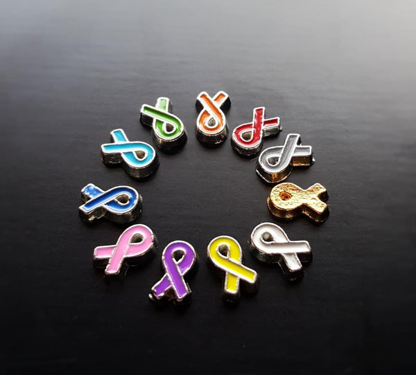 Floating Charm: Inspirational Collection - Awareness Ribbon Charms