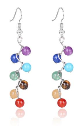 Earrings: Natural Stone Chakra Earrings