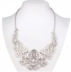 Statement Necklace: Lace-Like Retro Statement Vintage Necklace (Multiple Colours Available)