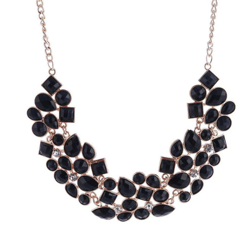 "Statement Necklace: ""Isn't She Lovely"" Statement Necklace BLACK"
