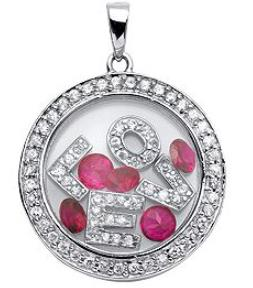 Floating Charm Jewellery: **Locket & Charm Set** - LOVE