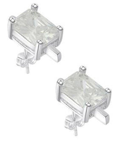 "Earrings: ""Sweet & Simple"" Rectangular Solitaire Stud Earrings"