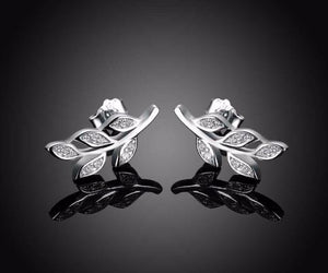 925 Sterling Silver: Earrings - Luscious Leaf Stud Earrings