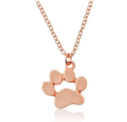 Necklace: Paw Print Pendant Necklace