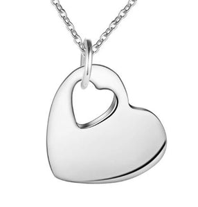Necklace: Cut-Out Heart Pendant Necklace