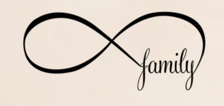 "Wall Decal: ""Family"" Infinity Symbol Wall Decal"