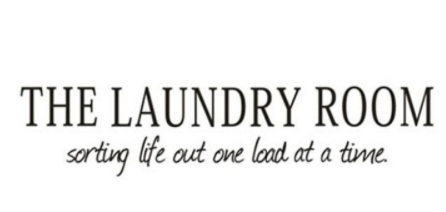"Wall Decal: ""Laundry Room"" Wall Decal"