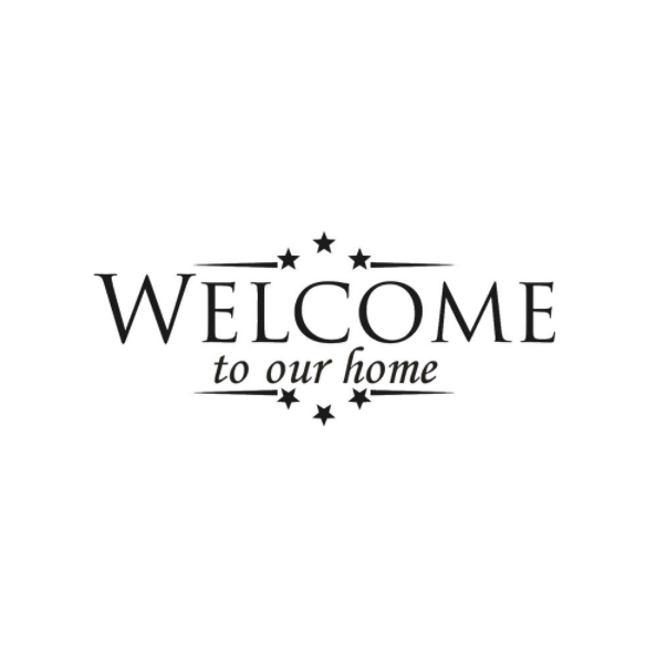 "Wall Decal: ""Welcome to Our Home"" Wall or Window Decal"
