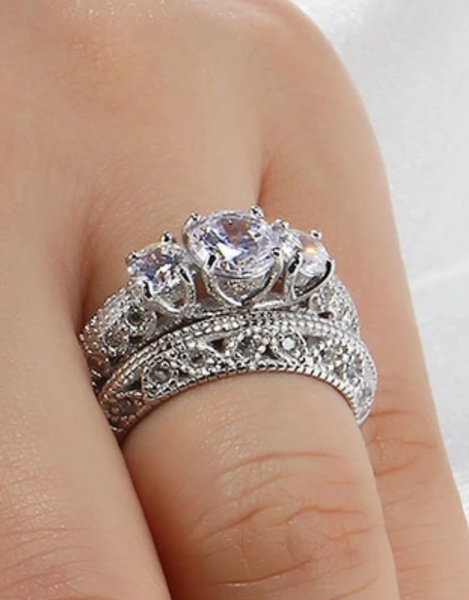 925 Sterling Silver: Ring Set - Stunning Set