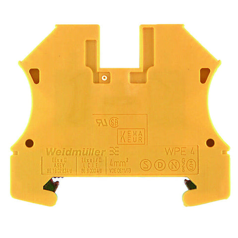 Weidmuller 101010 WPE4 4mm Earth Rail Terminal