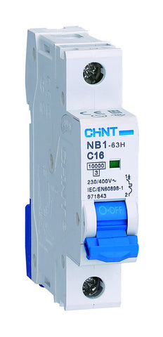CHINT NB1-63DH1P10 SP D MCB 10A 10KA