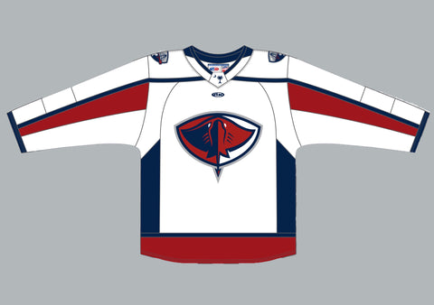 Adult White Athletic Knit Replica Jersey 2020 | South Carolina Stingrays